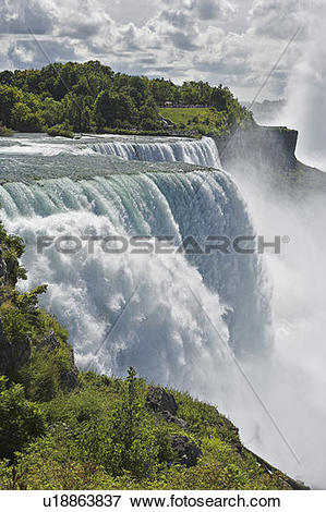 Picture of The American Falls photographed from Prospect Point.