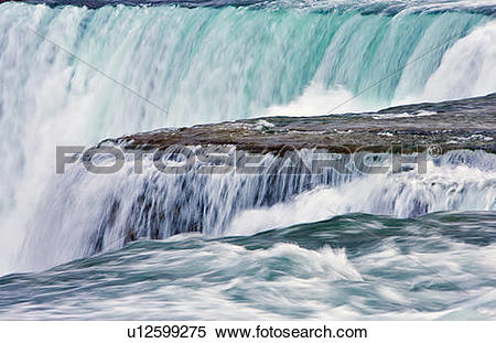 Stock Image of American Falls from Luna Island Viewpoint.