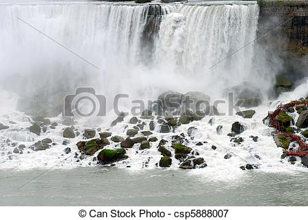 Picture of American falls viewing area Niagara.