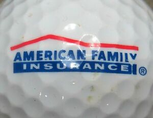 Details about (1) AMERICAN FAMILY INSURANCE LOGO GOLF BALL.