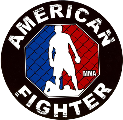 Free AMERICAN FIGHTER LOGO PSD Vector Graphic.
