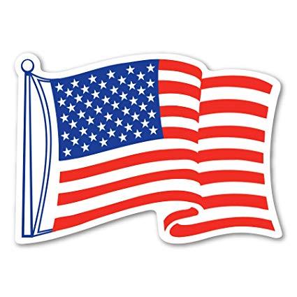 Amazon.com: Magnet America American Flag Waving Mini Decal.
