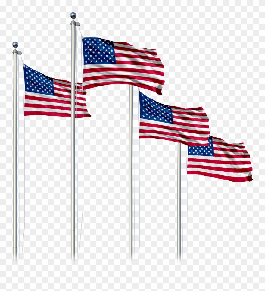 American Flag Pole Png.