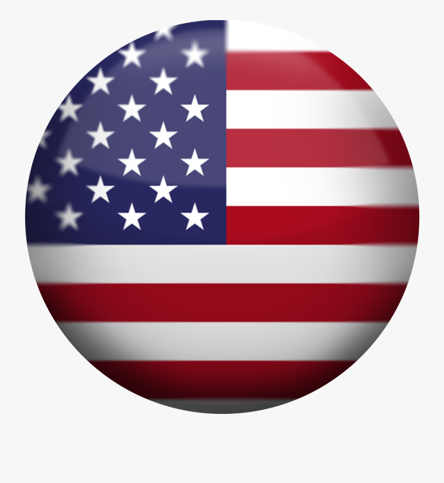 Usa Flag Button.