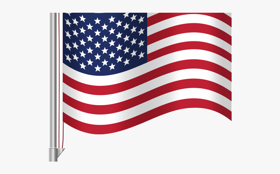 American Flag Pole Vector , Free Transparent Clipart.