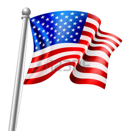 American Flag Pole Clipart.