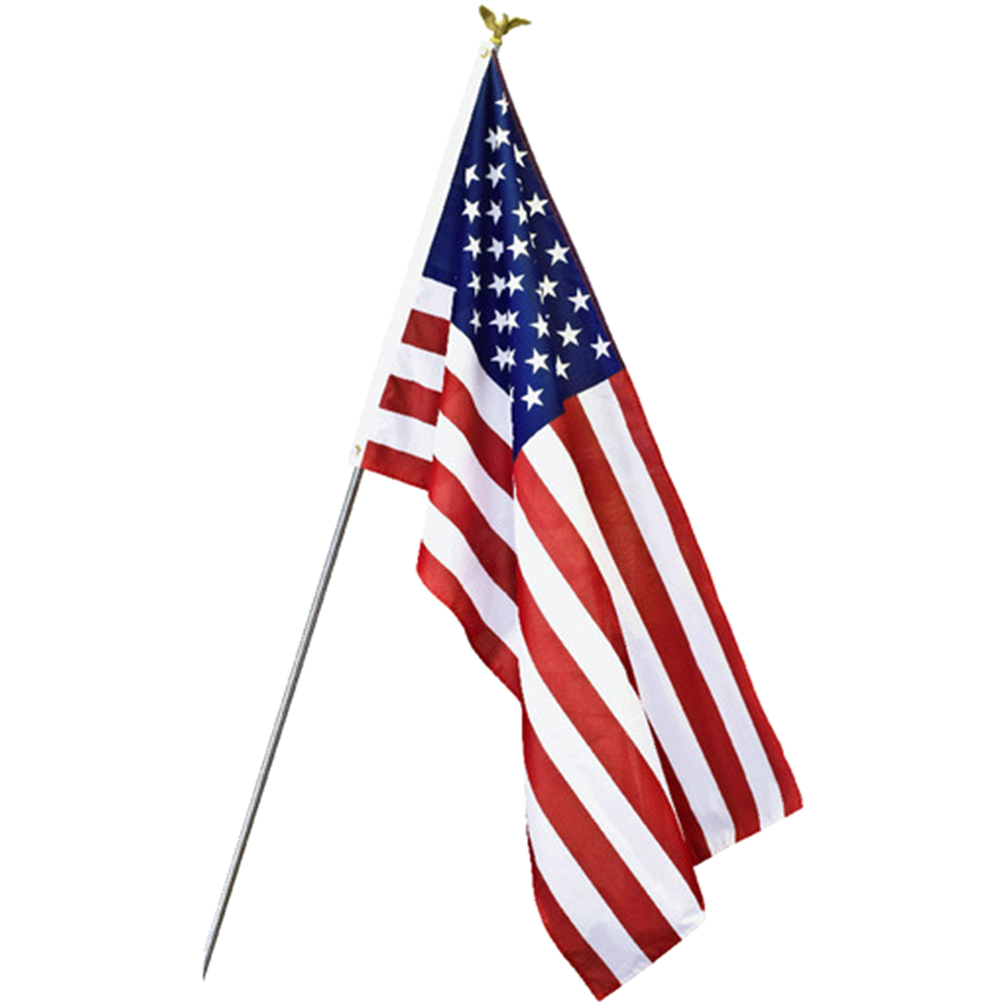 American Flag On Pole Png & Free American Flag On Pole.png.