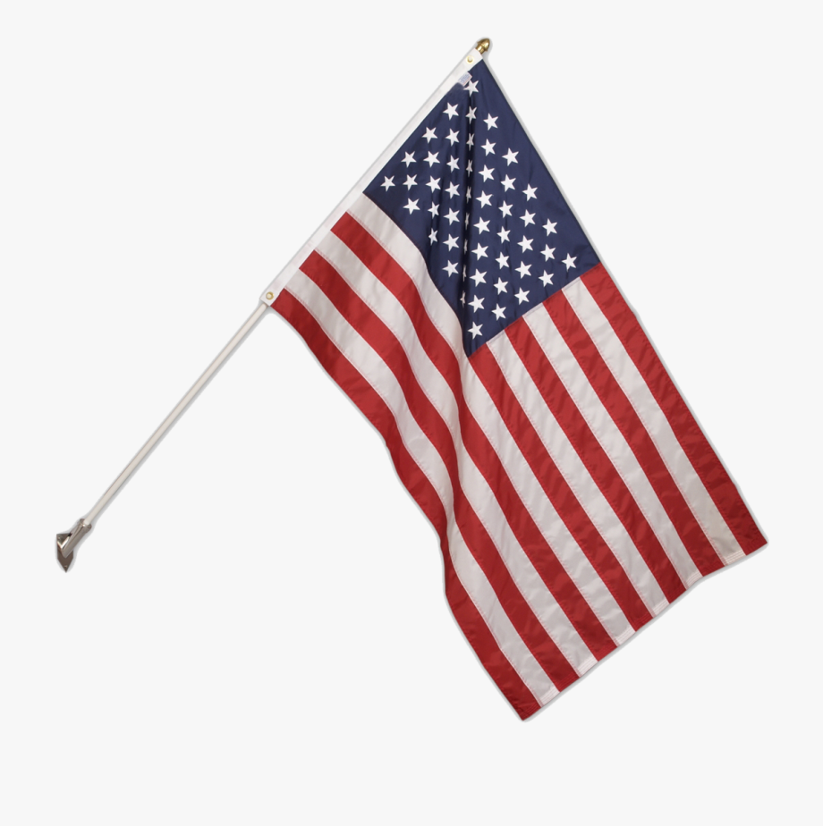 Transparent American Flag Pole Png.