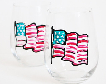American flag candle.