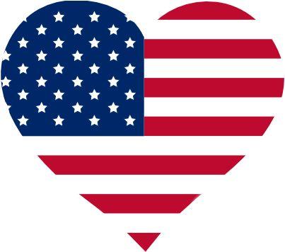 Usa Flag Heart Clipart.