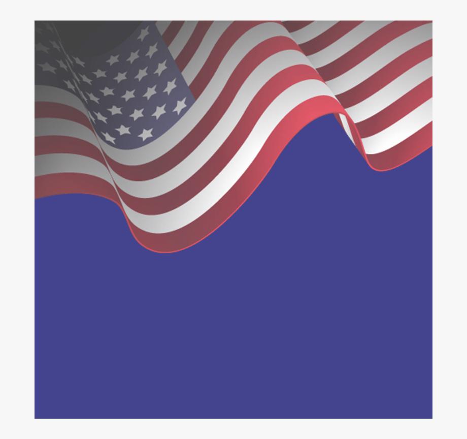 American Flag Ribbon Clipart Transparent Background.