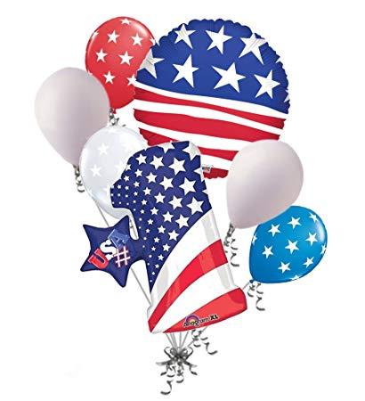 Jeckaroonie Balloons Patriotic American Flag Stars & Stripes.