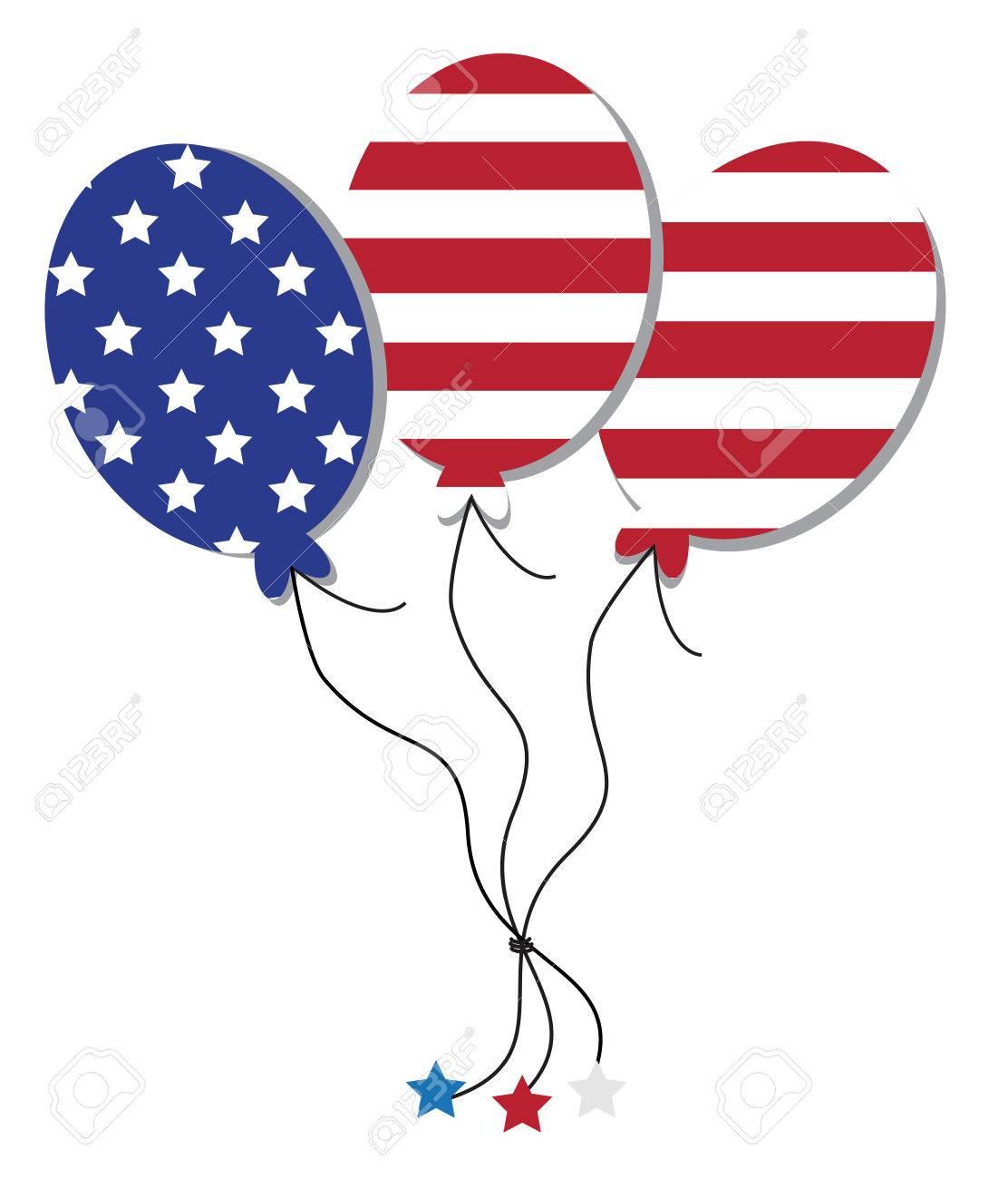 American Flag Balloons.
