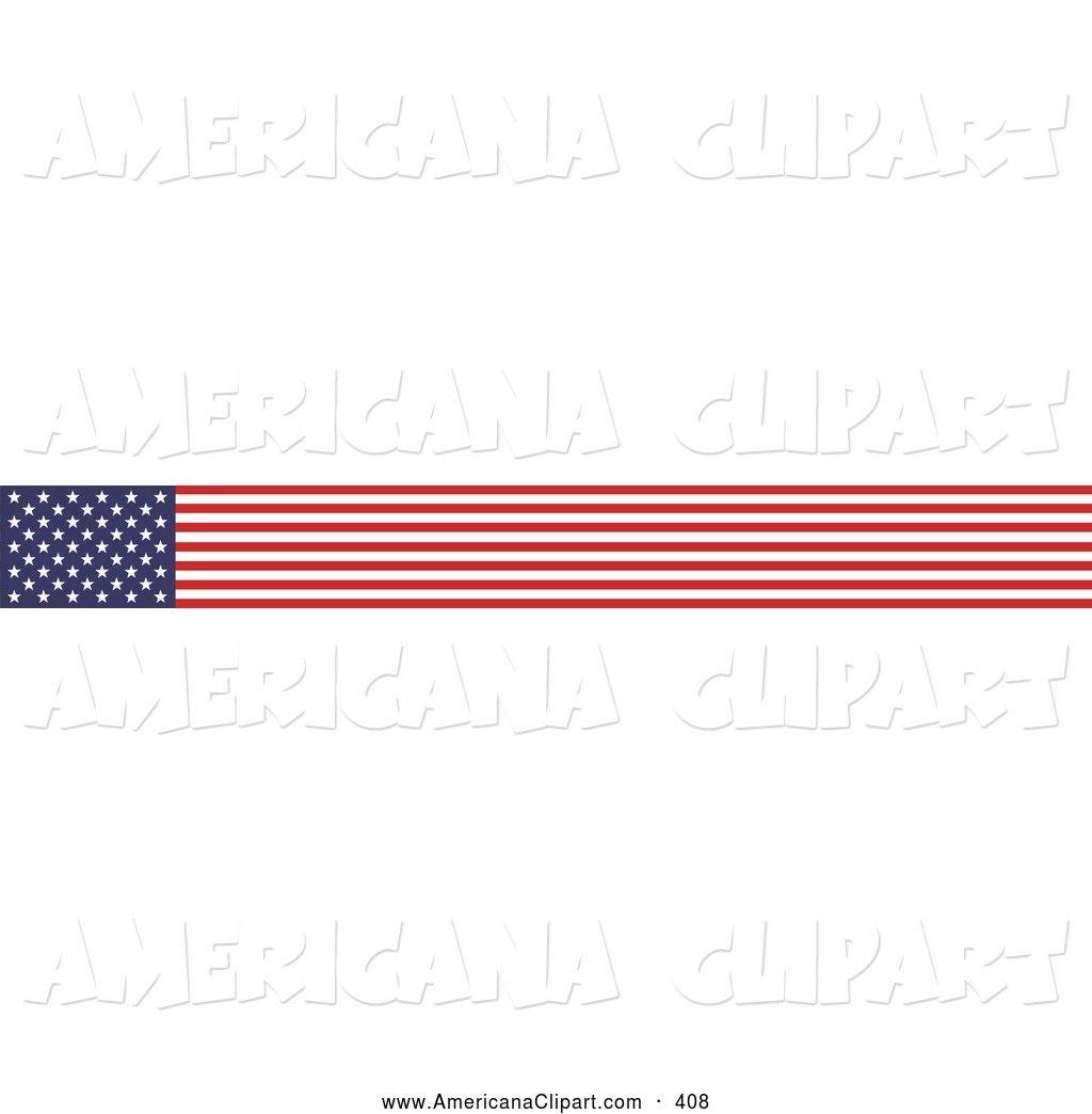 American Flag Banner Clip Art.
