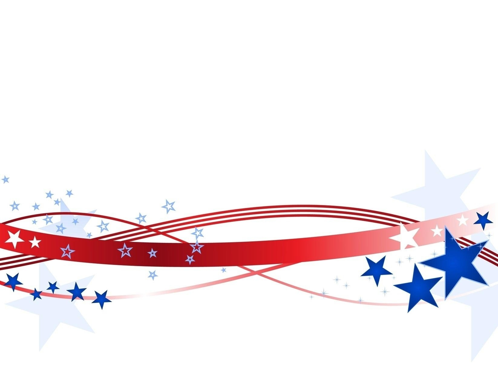 American Flag Clipart Banner.