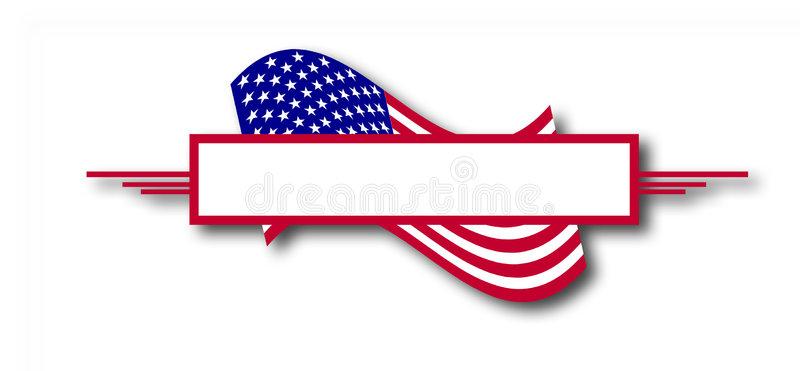 American Flag Banner Stock Illustrations.