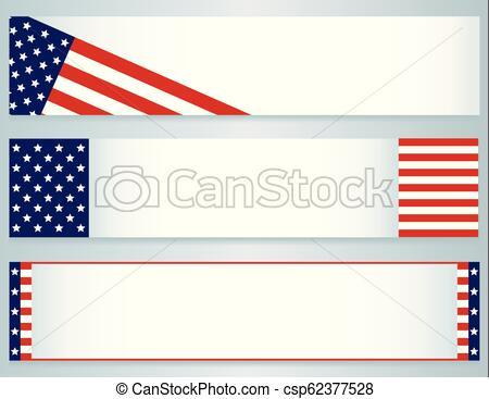 USA Flag banners.
