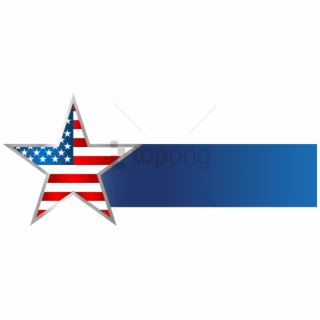Free American Flag Banner PNG Image, Transparent American Flag.