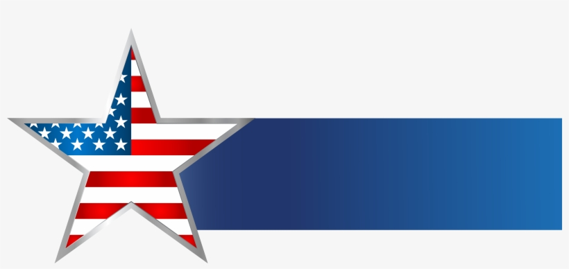 Usa Star Banner Png Clip Art Image.