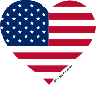American Flag Banner Clipart.