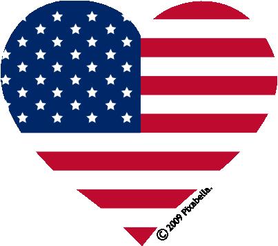 American Flag Banner Clipart.