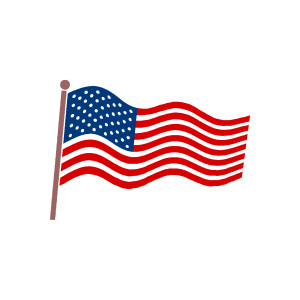 American flag banner clipart free image.