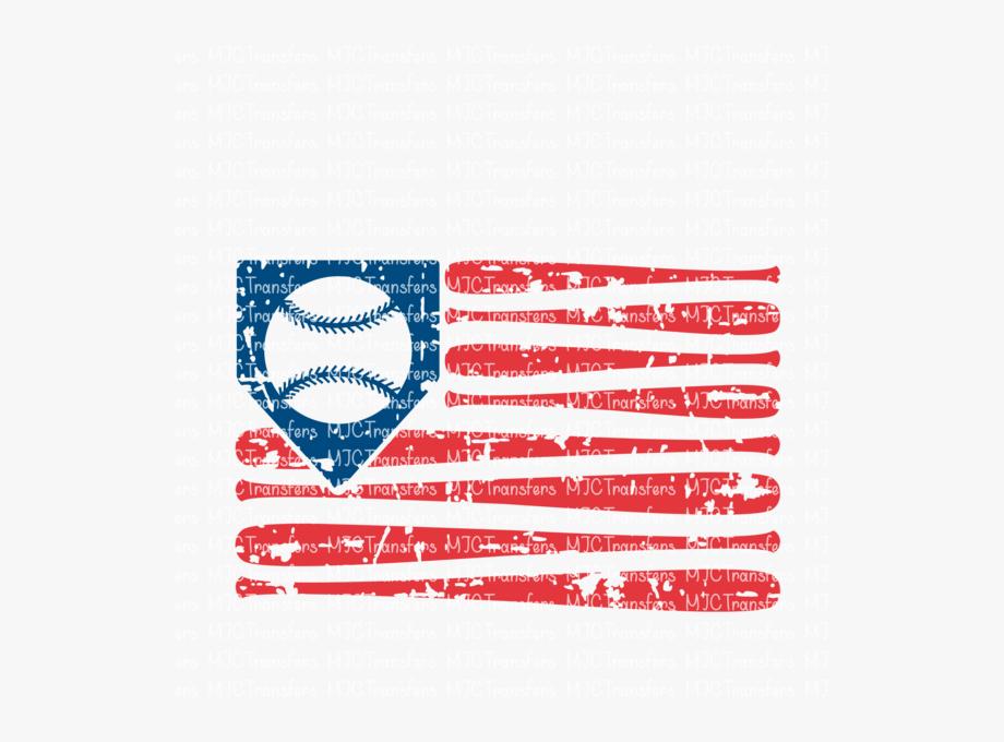 Distressed Baseball Flag.