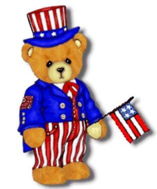 PATRIOTIC TEDDY BEAR CLIP ART.