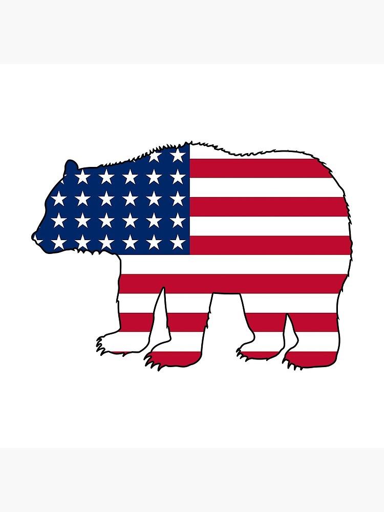 American flag bear.
