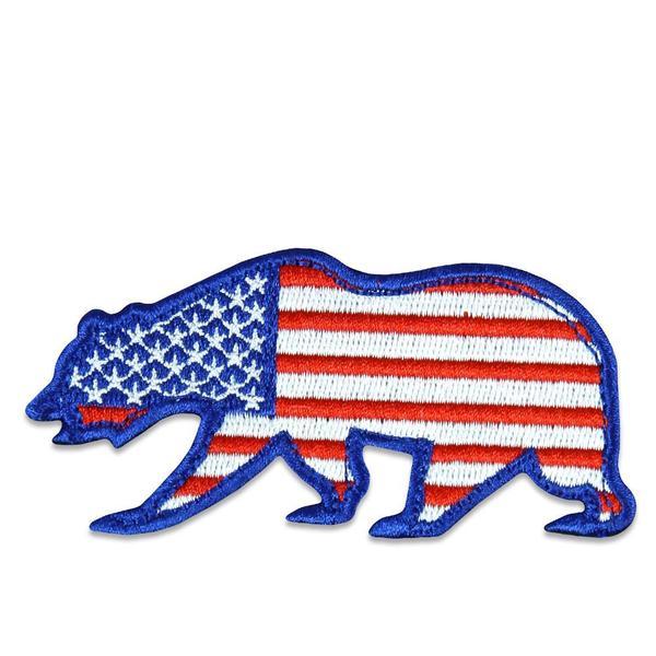 USA Flag Removable Bear Patch.