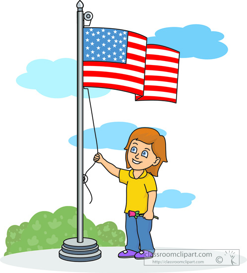 Flag Raising Ceremony Clipart.