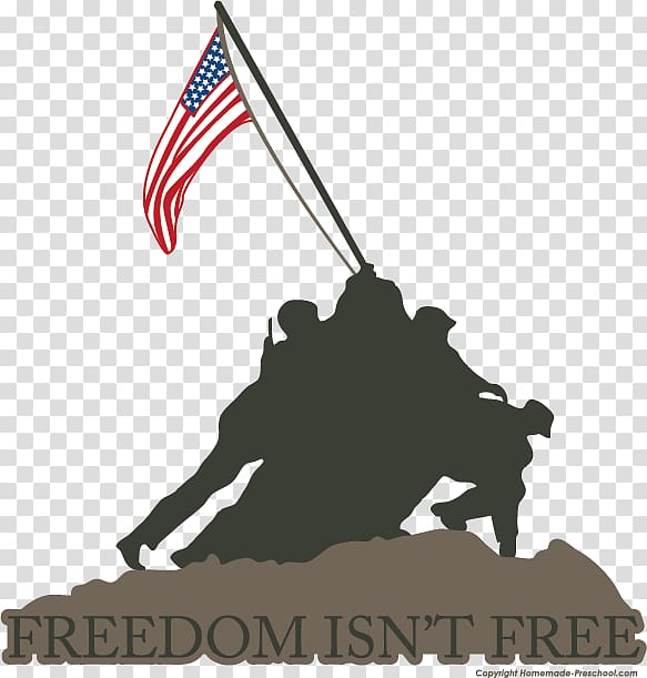 Freedom isn\'t free illustration, Marine Corps War Memorial.