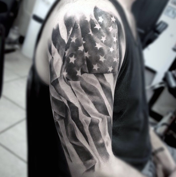 Top 60 Best American Flag Tattoos For Men.