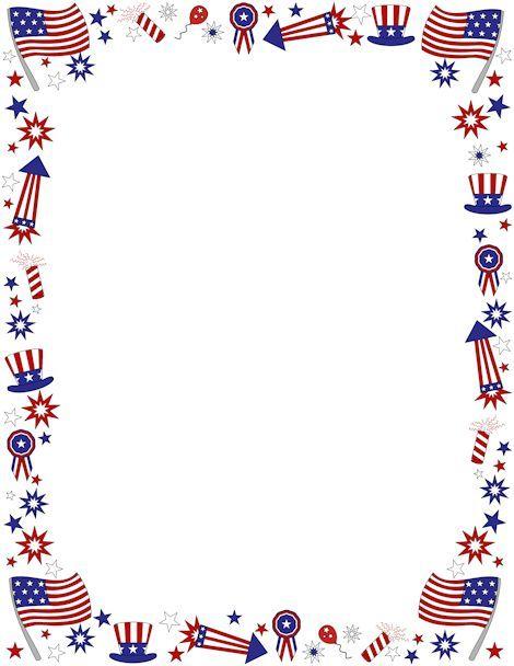 American flag clip art borders.