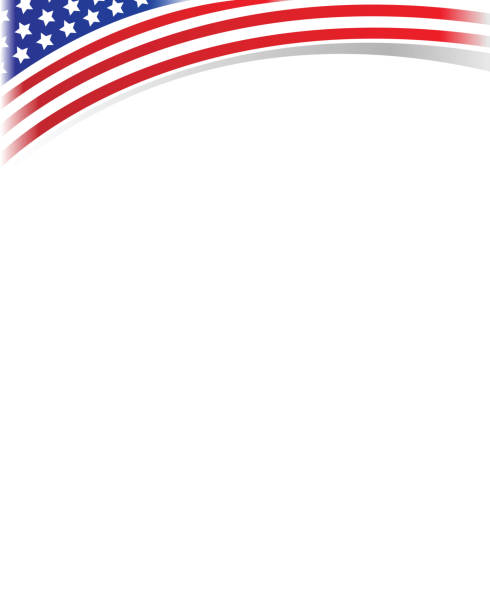American Flag Border Clipart.