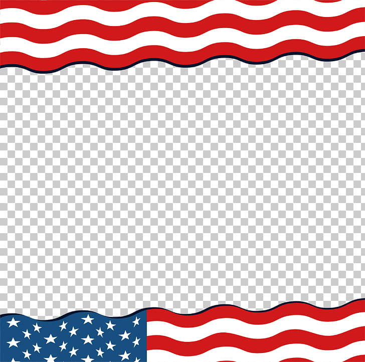 Flag of the United States, Wave of American flag borders.