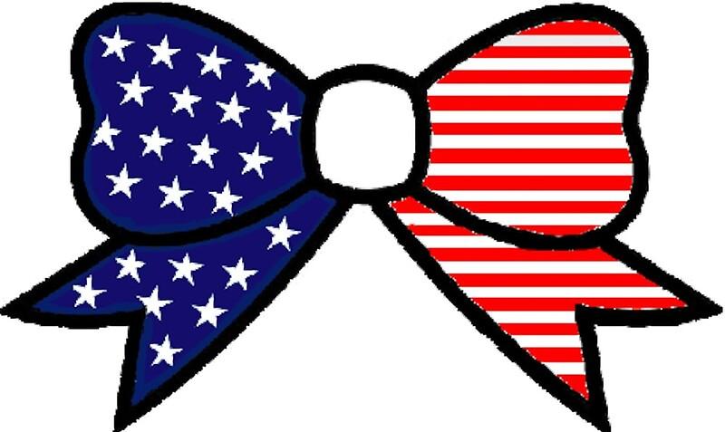 American Flag Bow\