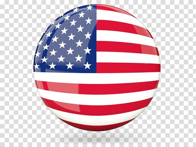 Round flag of USA art, Flag of the United States English.