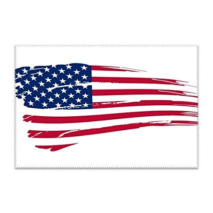 Amazon.com: HTRFgdhxcv Clipart American Flag Place Mats.