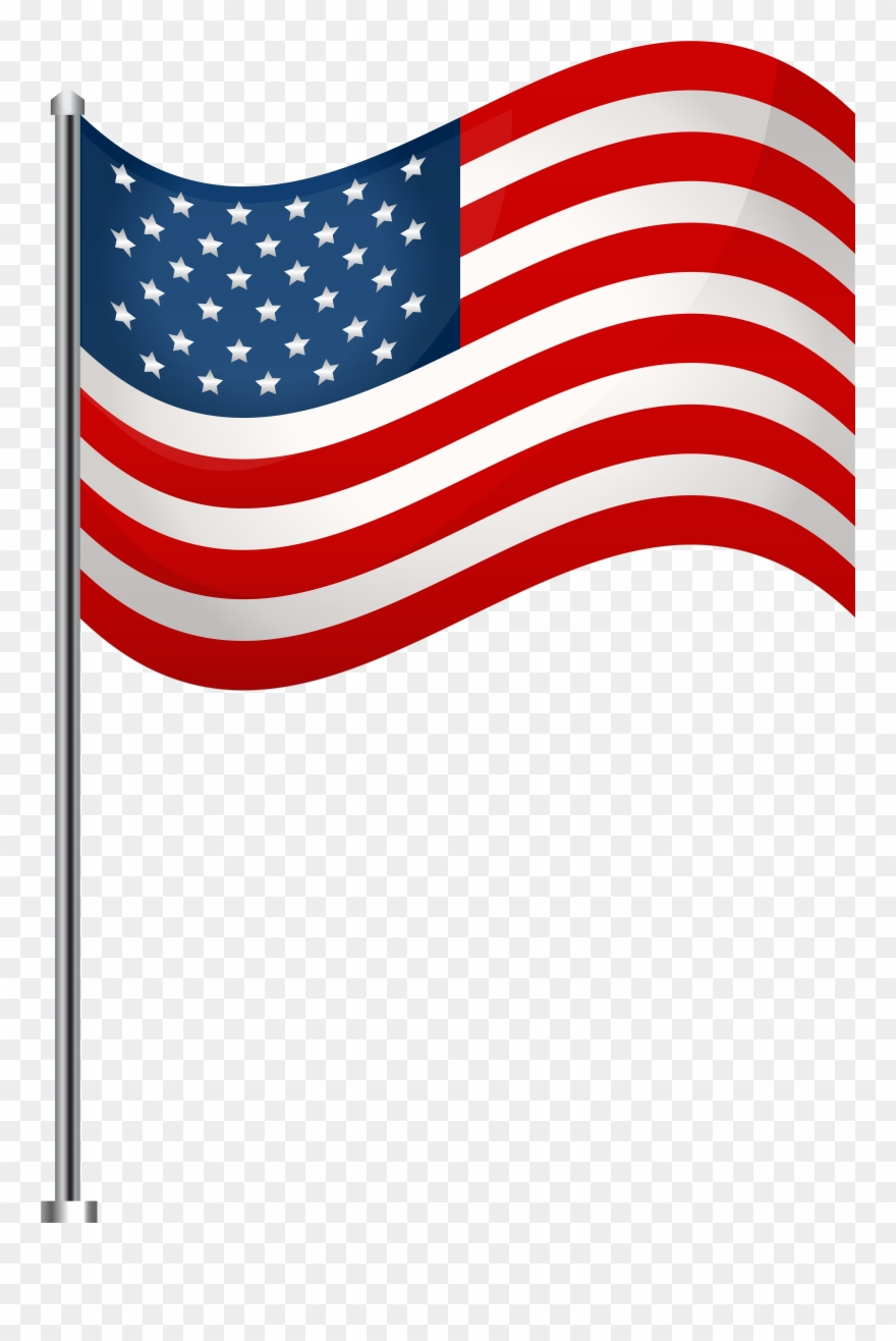 America Flag Transparent Background Clipart.