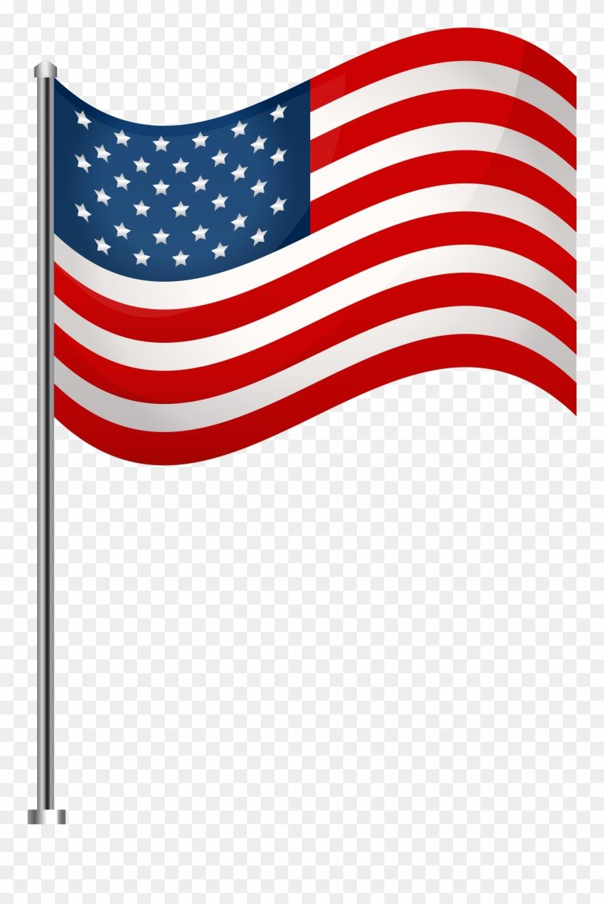 America Flag Transparent Background Clipart.