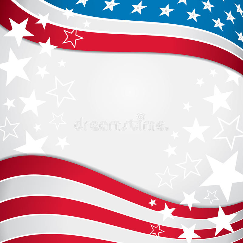 American Flag Background Stock Illustrations.