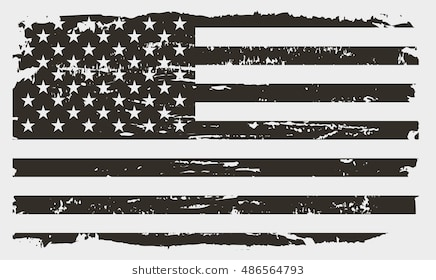American flag black and white clipart 7 » Clipart Station.