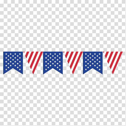 Flag of the United States Bunting, BORDER FLAG transparent.