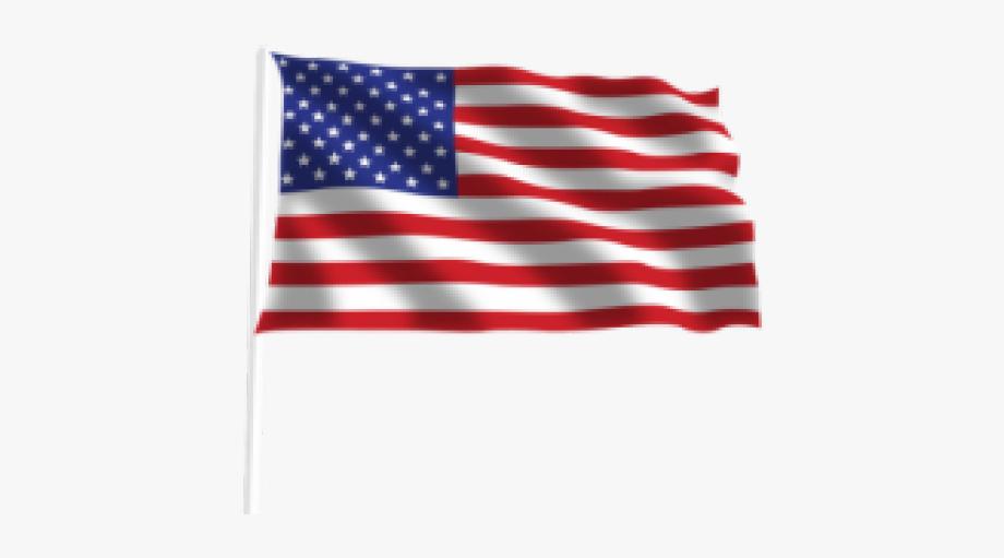 Drawn American Flag Transparent Background.