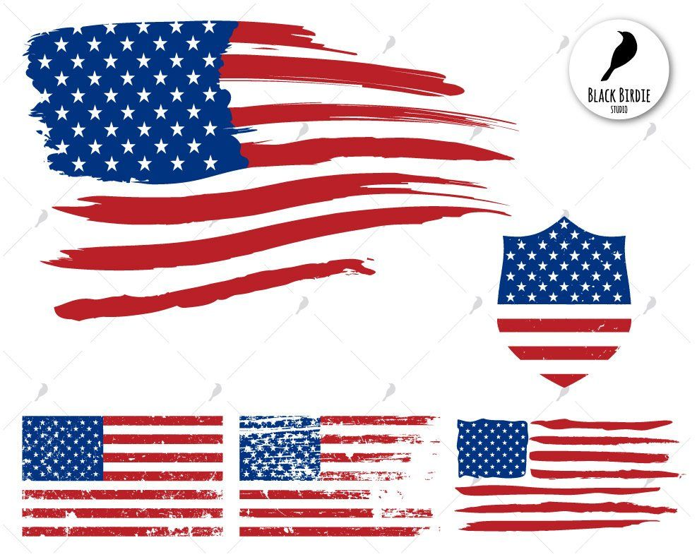 US flag svg, distressed flag svg, US flag clipart, american.