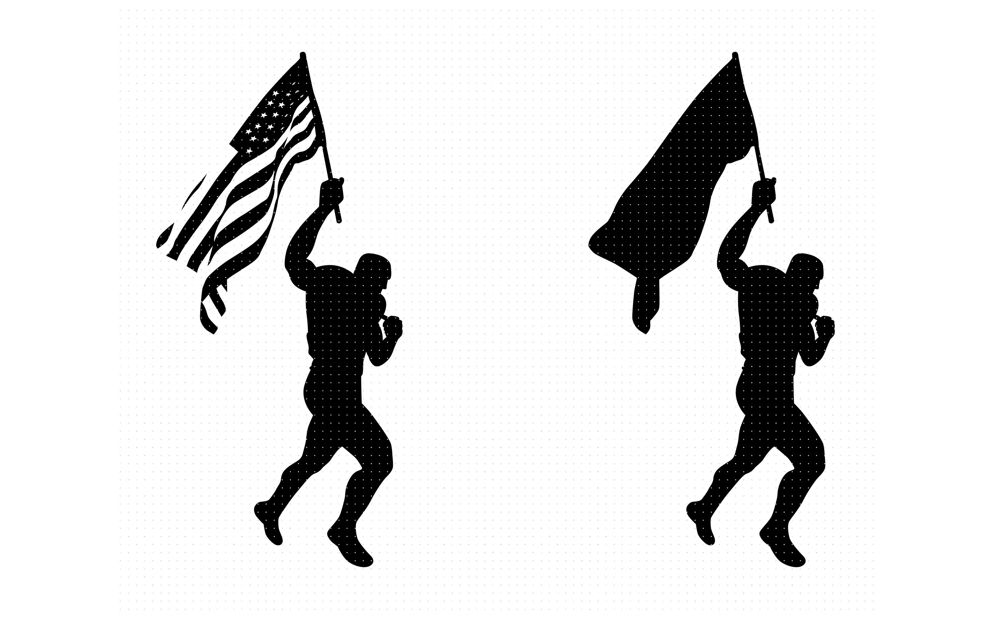 man waving the american flag svg, dxf, vector, eps, clipart.