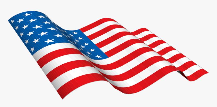 Transparent Us Flag Clipart Vector.