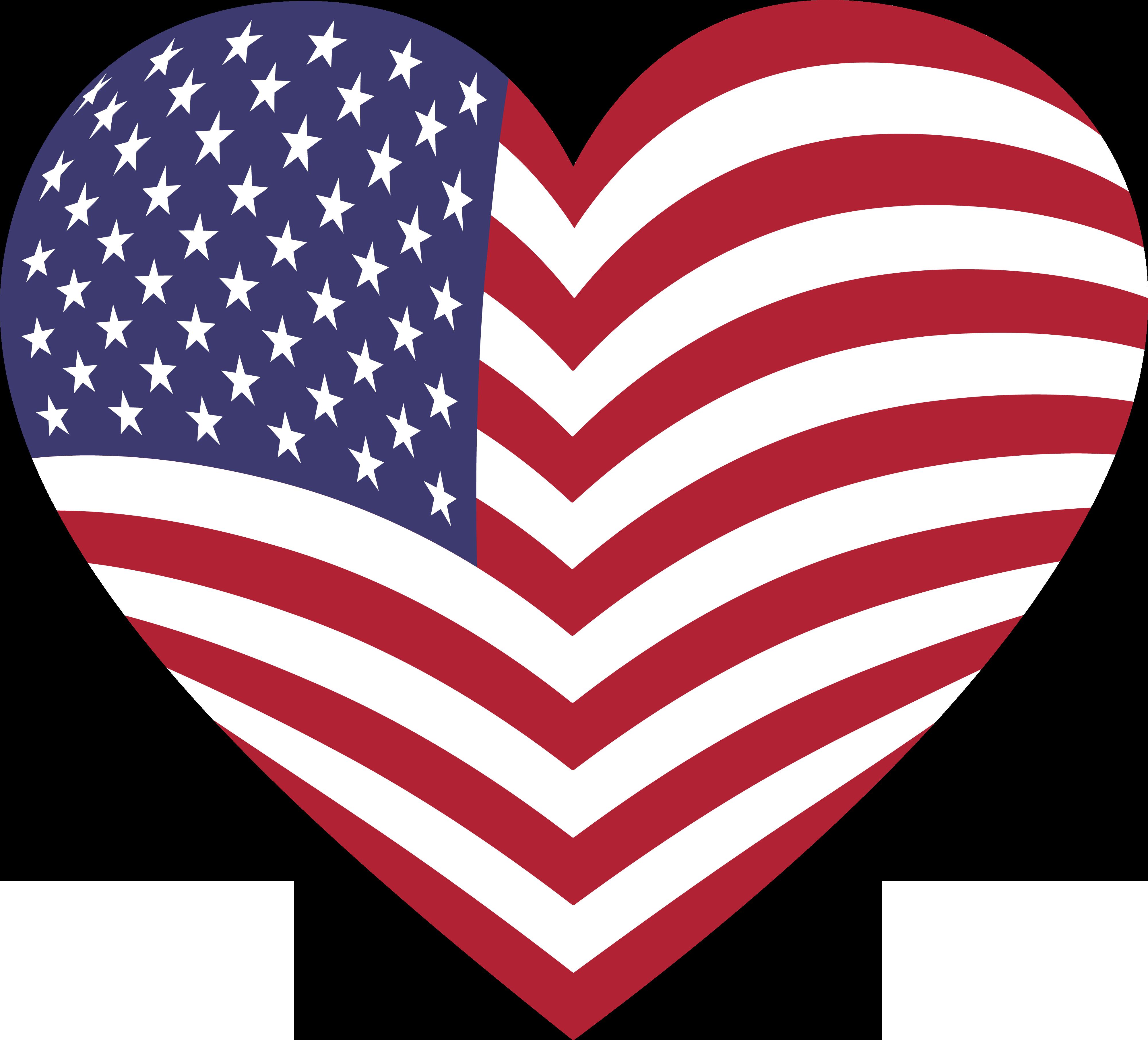 Heart clipart american flag #11.