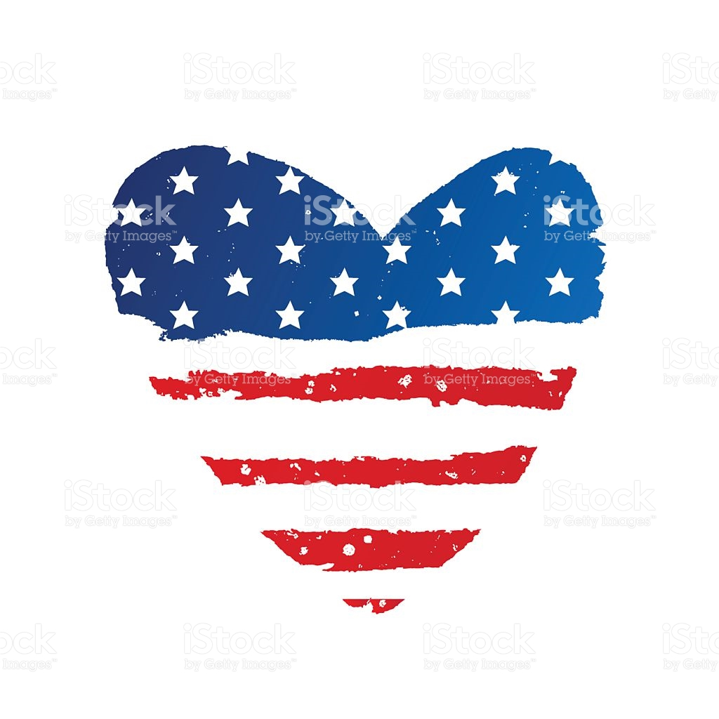 2919 American Flag free clipart.